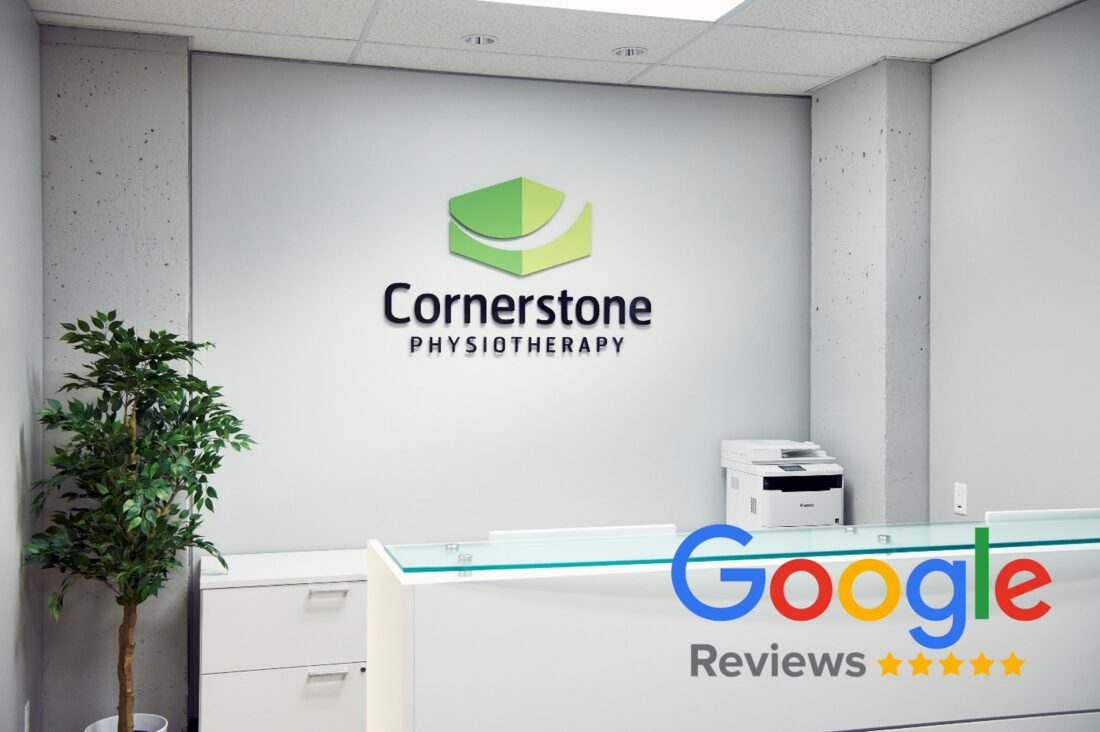 Cornerstone Physiotherapy Clinic showing Google 5-star rating