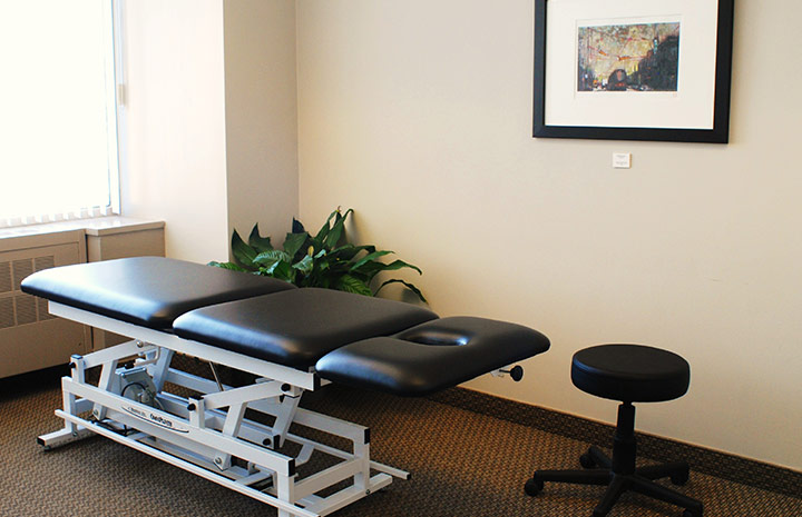 Cornerstone Physiotherapy College Station clinic private treatment room