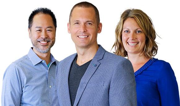 Cornerstone Physiotherapists Joon Nah, Adam Brown, and Courtney Steele