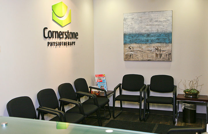 Cornerstone Physiotherapy Downtown Toronto waiting room