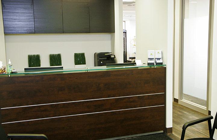 Cornerstone Physiotherapy Downtown Toronto reception area