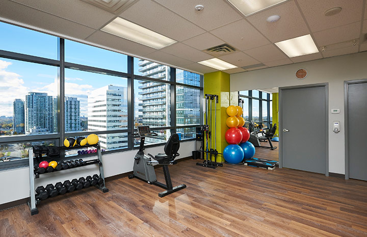 Cornerstone Physiotherapy North York clinic gym area